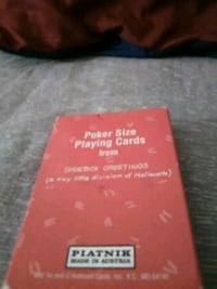 Hallmark ~ Piatnik ~ Shoebox Greetings Poker Size Playing Cards    Middle River, 21220