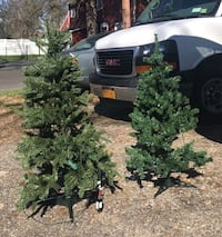 45 inch and 53 inch lighted Christmas trees read description.  Washington, 07882