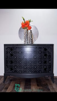 Black and gray floral table lamp Sykesville, 21784