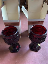 1876 Cape Cod red goblets. Fultondale, 35068