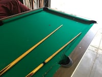green and brown pool table Los Angeles, 90026