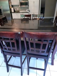 High dining table with 8 chiars with letter paddin Whitby, L1N 9E2