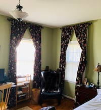 8 Brown curtains. 108in. Blocks sun. Back layer sewn on. Fredericksburg, 22408