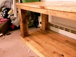 Wooden pallet table. Great for a flat TV. Handmade.