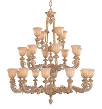 Made in Italy brass-colored upright alabaster globes chandelier  HICKSVILLE