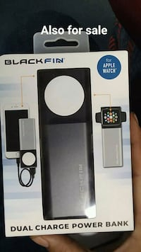 Black fin portable  battery and I watch charger Brewer, 04412