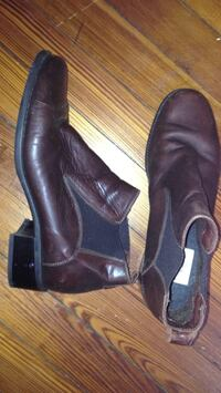 pair of black leather boots Takoma Park, 20912