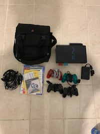 Black sony ps2 console with controller and game cases Philadelphia, 19116
