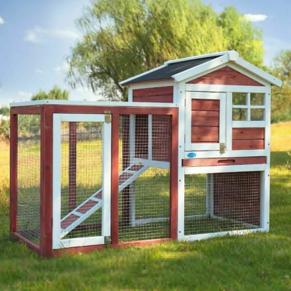 "Brand New 44"" Rabbit Hutch Guinea Pig Ferret Wooden Animal Pet Cage with Run"
