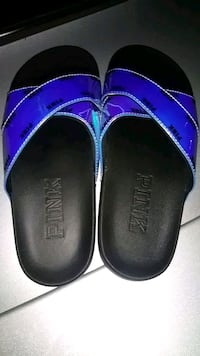 pair of black leather slip on shoes Kissimmee, 34747