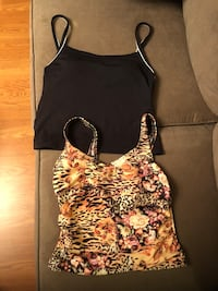 Black and white floral spaghetti strap top Gaithersburg, 20877