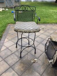 Wrought iron bar stools Black - $60 (Bensalem)