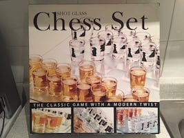 Shot Glasses Chess Set. Brand New