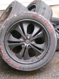 """22""""wheels and tires 6lug chevy+toyota Yarmouth, 04096"""
