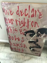 we declare our right on this day to be a human being-printed wall decor