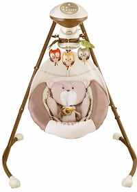 baby's white and brown cradle and swing Fort Washington, 20744