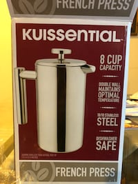 BNIB Kuissential French Press Kensington, 20895