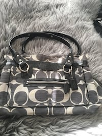 black and white Coach monogram tote bag Calgary, T2H