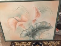 framed painting of pink calla lilies Brick, 08724