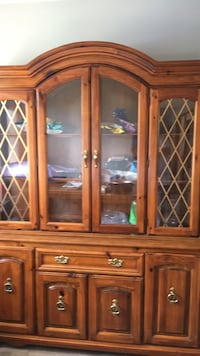 brown wooden framed glass china cabinet Mullica Hill, 08062