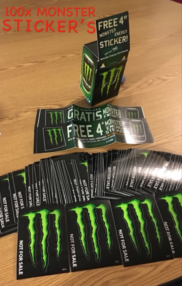 100 X Monster Energy Stickers