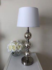 brass base white shade table lamp Charlottesville, 22903