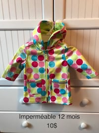 white, green, and pink zip hoodie jacket Gatineau, J8R