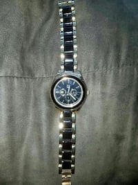 round gray chronograph watch with link bracelet Beckley, 25801