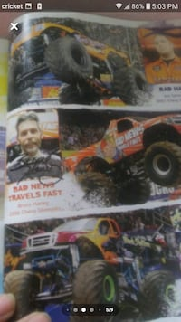 autographed monster jam