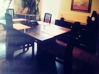 black wooden table with chairs Trois-Rivières, G8T 4C4