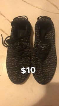 pair of black Adidas Yeezy Boost 350 Clearfield, 84015