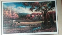 brown horse with carriage signed and numbere print Hamilton, 49419