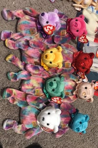 Birthday bear collection Beanie babies