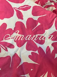 PB TEEN large beanbag cover, personalized with the name Amanda
