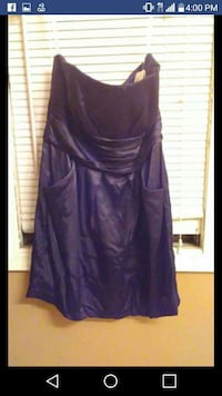 Purple brides maid dress