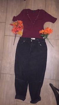 Black ripped jeans $15 Top$15  both together$30 Guelph, N1L 0L8