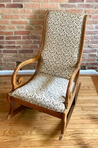Scrolled Arm Rocking Chair