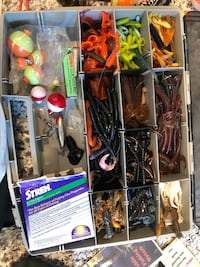 Tackle box with assorted baits