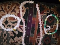 NWT Seashell necklace and 2 Bracelets/Anklets Vancouver