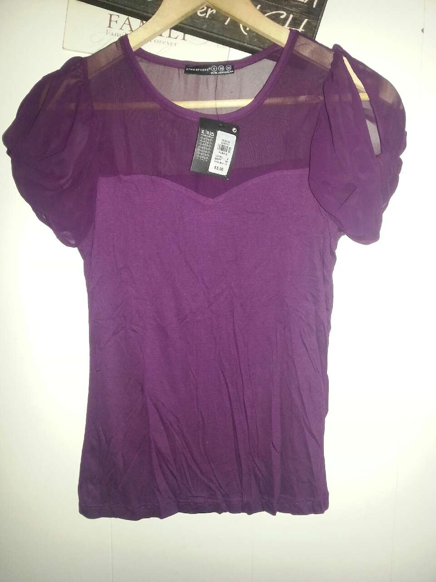deep purple top S.