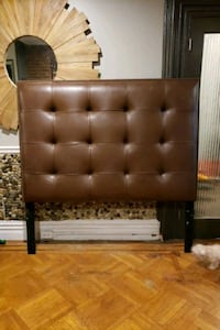 Queen sized leather head board tufted with brass n Brooklyn, 11216