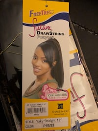 """Draw strong ponytail, (Hair) never used.  Yaky Straight 12"""", Color: P1B/33  Paramount, 90723"""
