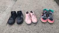 three pairs of assorted shoes Greentown, 46936