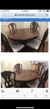 Wood Dining table with 4 chairs Henderson, 89052