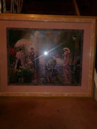 Vintage picture with frame