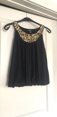 black fabric and gold sequin top Mc Lean, 22102