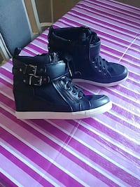 Wedge High Top Sneakers