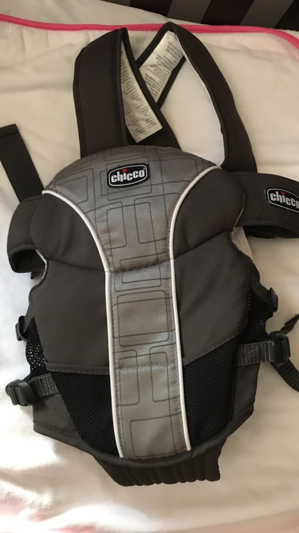 Gray And Black Chicco Baby Carrier