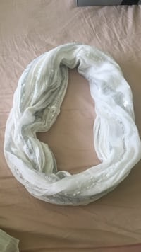 WHITE SPARKLY INFINITY SCARF Richmond, V7C 3A1