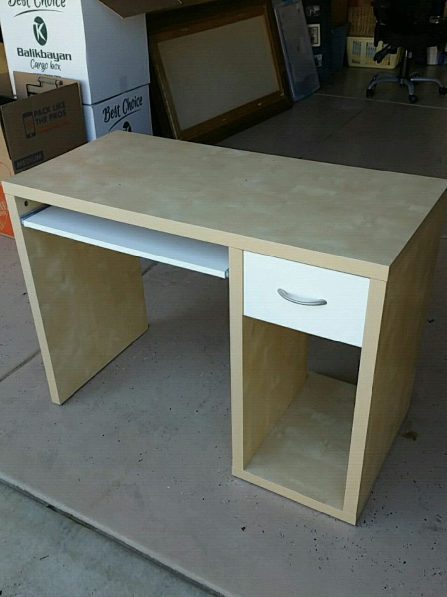 used white and brown wooden computer desk for sale in morgan hill rh gb letgo com